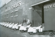 Outside the Pashley Carrier Cycles Factory