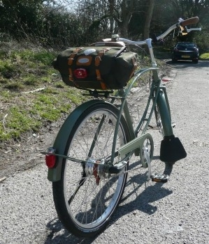 Carradice Barley Bag fitted.