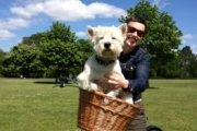 Rocky loves my new Pashley!