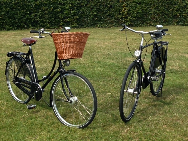 His and hers Pashley bicycles