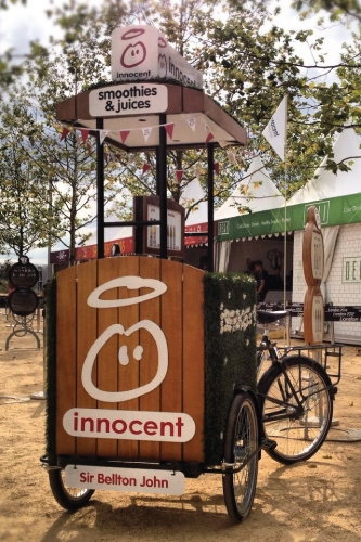 Innocent Smoothie Olympic Park Vending Tricycle