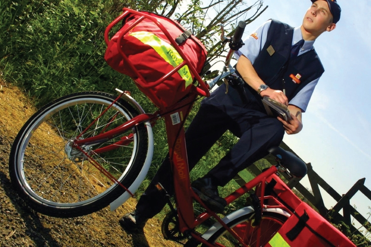 The Royal Mail 'MailStar' delivery bicycle