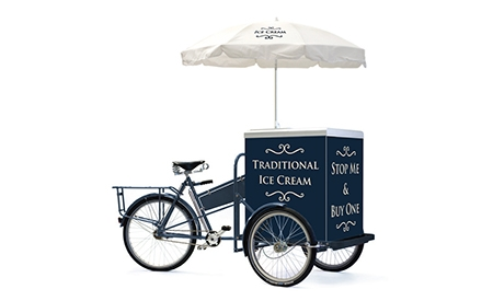 'Traditional Ice Cream' umbrella and fridge/freezer branding